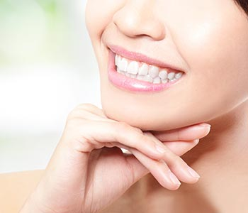 Cosmetic Dentistry Waterloo ON A smiling woman with beautiful teeth